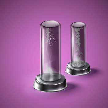 illustration of laboratory equipment on purple background - vector #130966 gratis