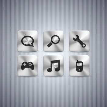 Different web buttons set on grey background - vector gratuit #130976
