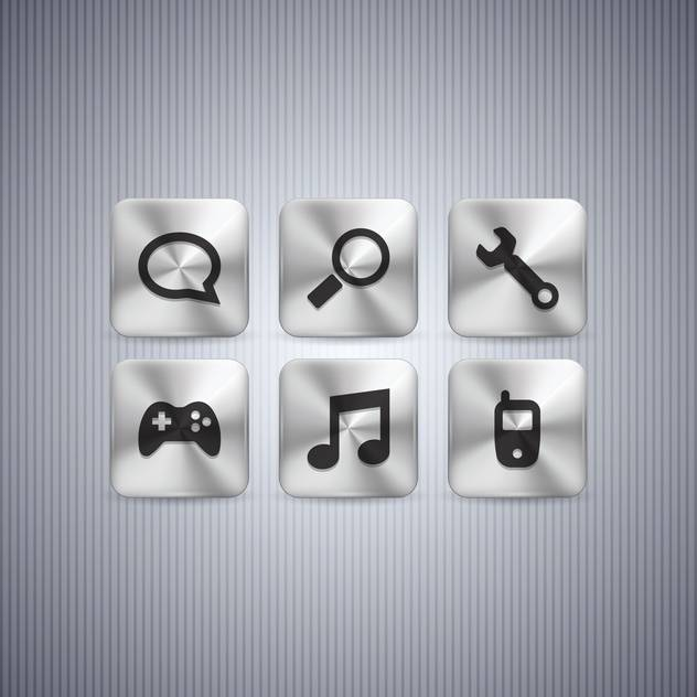 Different web buttons set on grey background - бесплатный vector #130976