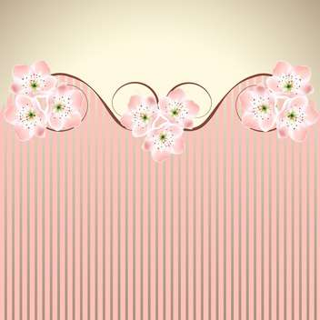 vector decoration pink honeysuckle sakura or cherry blossom waved background - vector gratuit #130986