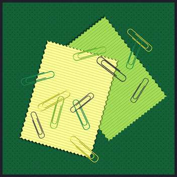 Papers with colored paper clips vector illustration - бесплатный vector #130996