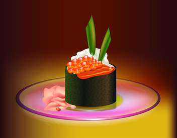 Japanese food sushi vector illustration - Free vector #131026