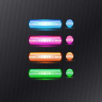 Web colorful buttons set - Free vector #131086