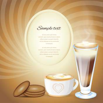 Coffee design template vector illustration. - vector #131116 gratis