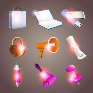 Office tools vector illustration - Free vector #131146