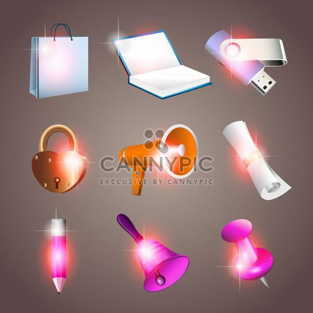 Office-Tools Vektor-illustration - Kostenloses vector #131146
