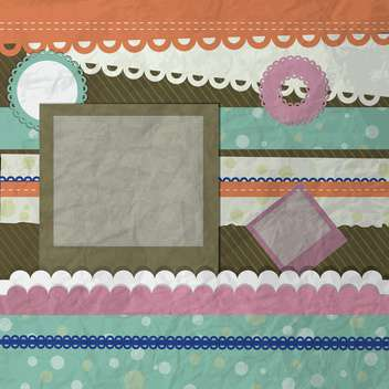 Vector scrapbooking background with frames and lace - Free vector #131166