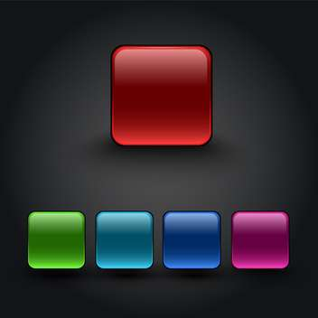 Vector color square buttons - vector gratuit #131176