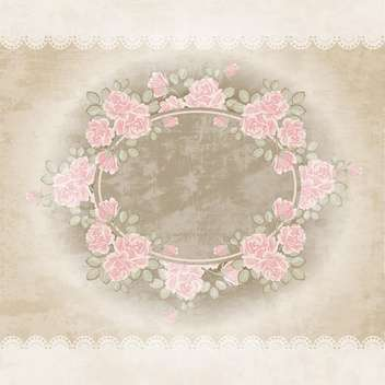 Floral vector background with vintage frame - vector gratuit #131196