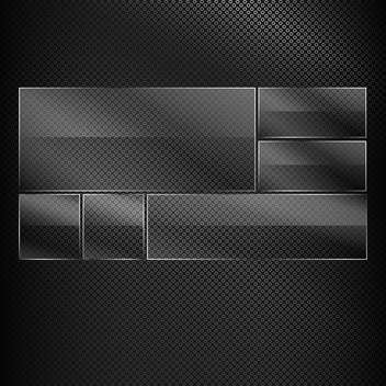 Vector glass banners on black texture - vector gratuit #131246