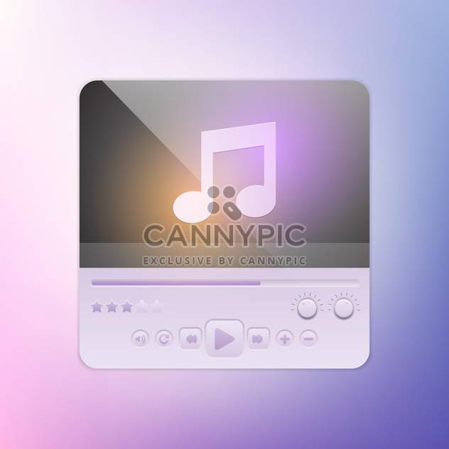Multimedia buttons interface vector for web design - Free vector #131316
