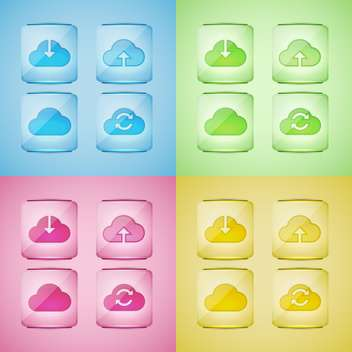 Set of cloud icons vector illustration - vector gratuit #131326