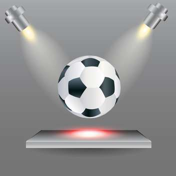 Football ball on stage with lights from the sides - vector gratuit #131336