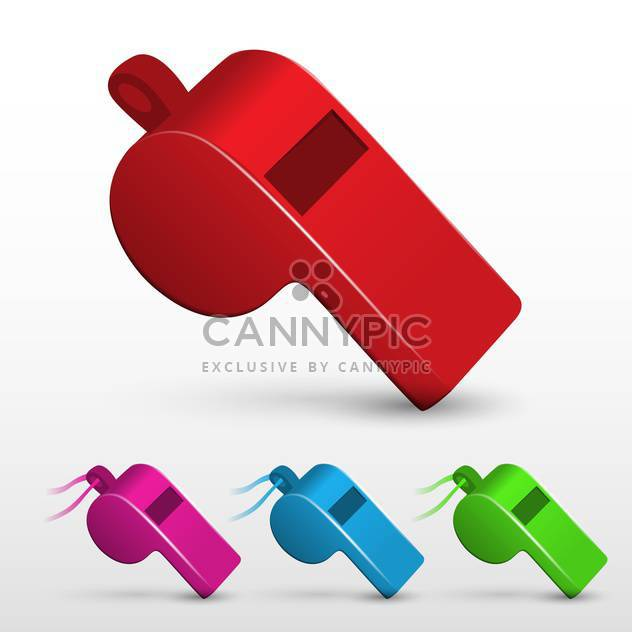 Vector illustration of whistle set on white background - бесплатный vector #131366