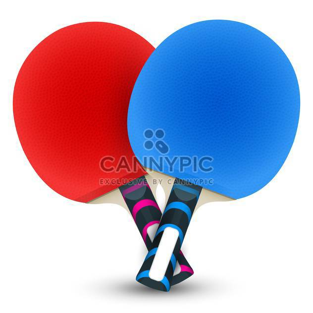 Two table tennis rackets on white background - Free vector #131416