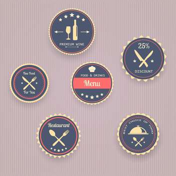 Set of icons of menu in vintage style - vector gratuit #131536