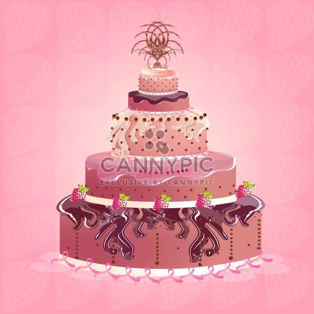 Cute And Tasty Birthday Cake Illustration