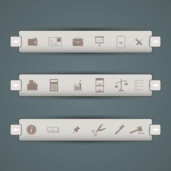 Office icons vector set - Free vector #131576