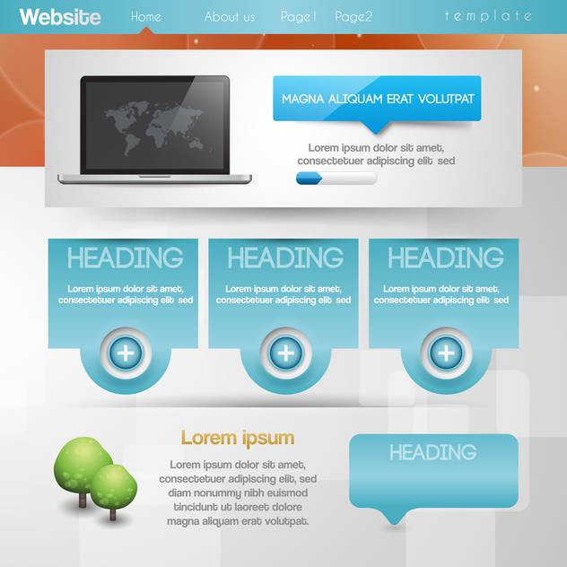 Vector website design template illustration - Free vector #131716
