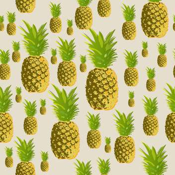Vector seamless background with pineapples - Free vector #131746