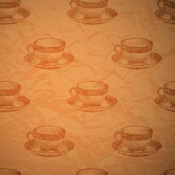 Vector vintage seamless background with cups - vector gratuit #131776