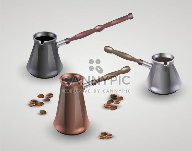 Vector set of different coffee pots - Free vector #131826