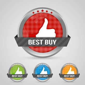 Vector illustratin of best buy sticky labels - vector #131916 gratis