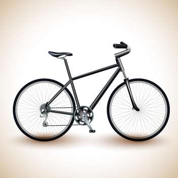 Vector illustration of a black bike on light background - vector #131956 gratis