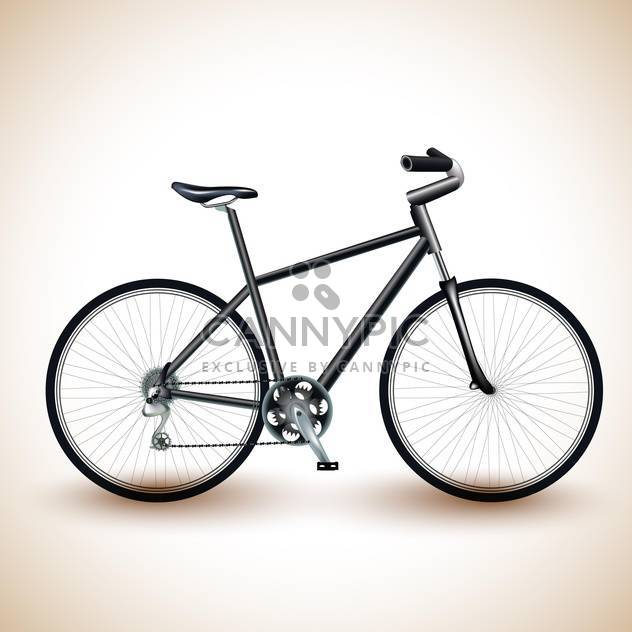 Vector illustration of a black bike on light background - Free vector #131956