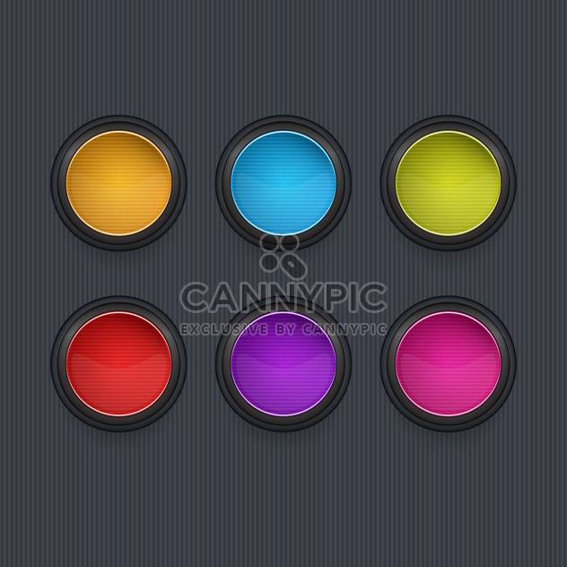 Colored round vector icons on dark background - Kostenloses vector #131986