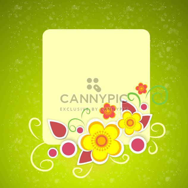 Vector floral frame on green background - Free vector #132076