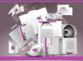 Corporate identity template with abstract elements,vector illustration - бесплатный vector #132246