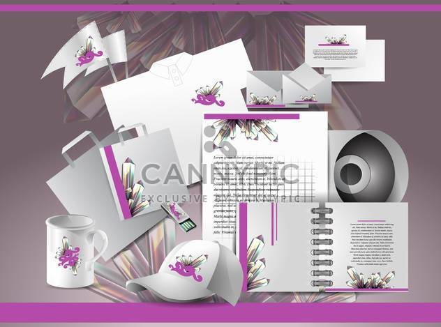 Corporate identity template with abstract elements,vector illustration - Free vector #132246