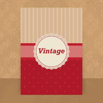 Vector vintage card in red and beige colors ,vector illustration - vector gratuit #132256
