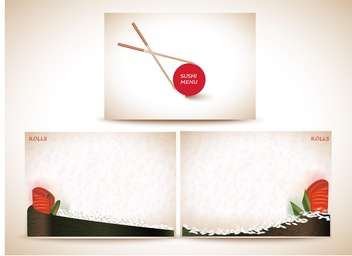 Sushi menu banners,vector background - vector gratuit #132296