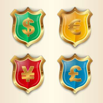 Vector money symbols set - vector gratuit #132366