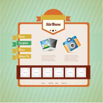 Web site design template,vector illustration - vector #132386 gratis