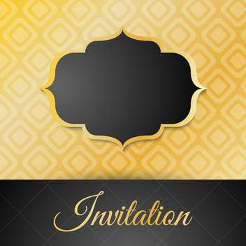 Vintage golden invitation card with frame - vector gratuit #132426