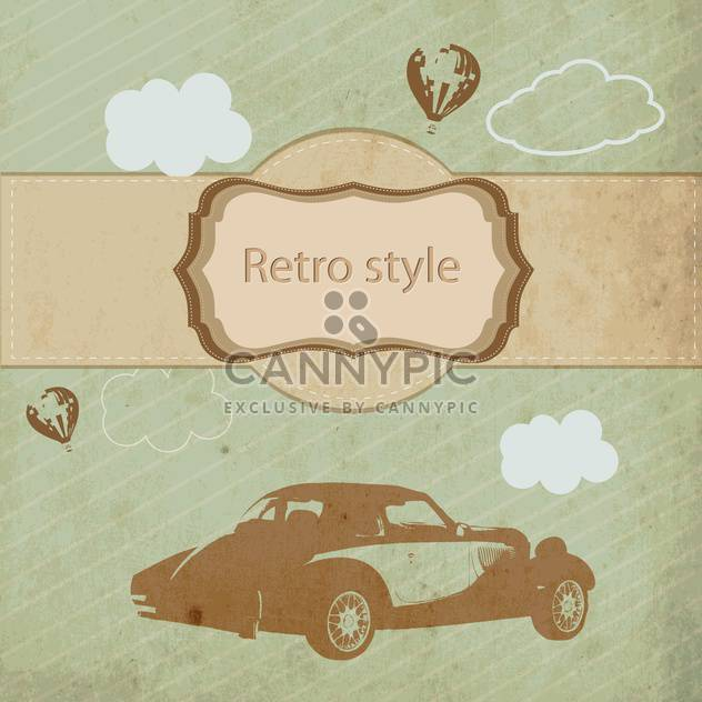 Vintage sports car in retro style vector background - Free vector #132466