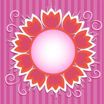 Vector floral frame on purple background - vector gratuit #132476