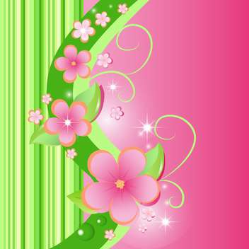 vector summer floral background - Free vector #132486