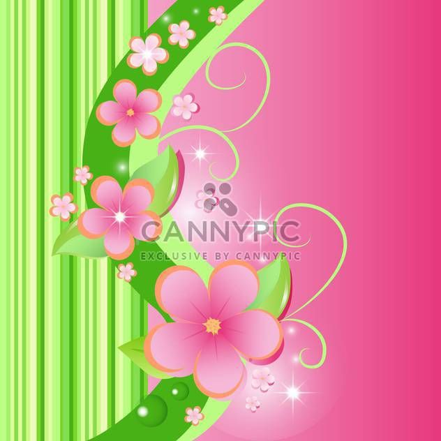 Vector Sommer floral background - Kostenloses vector #132486