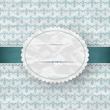 blue floral frame texture - Free vector #132536