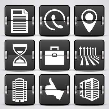 business web icons set - vector gratuit #132566