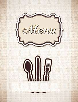 restaurant menu in retro style - vector gratuit #132596