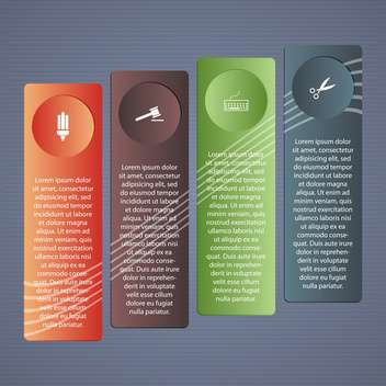 business design folders with place for text - vector gratuit #132676