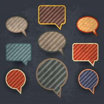 set of vintage speech bubbles - vector gratuit #132686