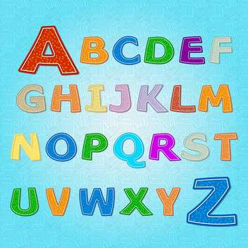 education alphabet vector letters set - vector gratuit #132696