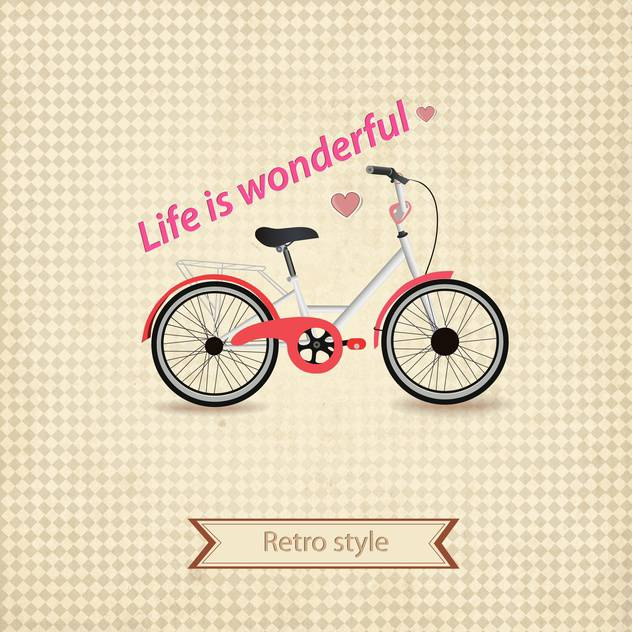 retro style bicycle background - Free vector #132766