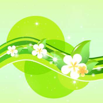 spring green floral background - vector #132816 gratis